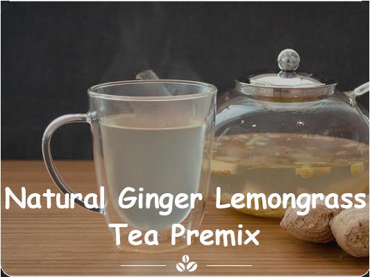natural ginger lemongrass tea premix